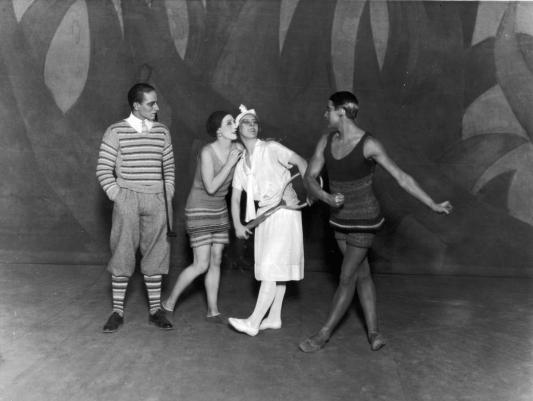 De Dansers van het Ballet Le Train Bleu,