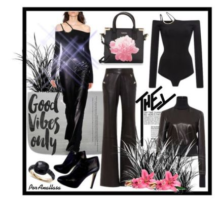 A fashion look from April 2016 by anallasa featuring David Koma, Giuseppe Zanotti, Calvin Klein, Pomellato, modaoperandi, davidkoma and anallasa