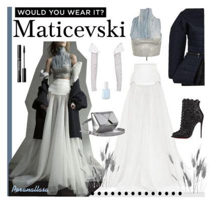 Set de moda realizado por -anallasa con ropa de Maticevski, bolso de cushnie et Ochs y botines de christian Louboutin.